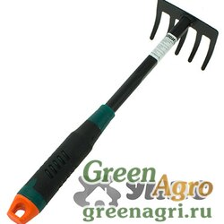Грабли малые 5-и зубые JD-6021С с пластиковой ручкой (120)