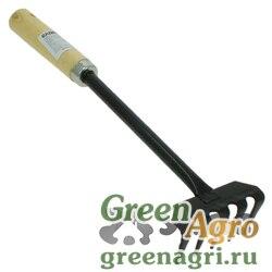Грабли малые 5-и зубые JD-6017B c деревянной ручкой  (120)