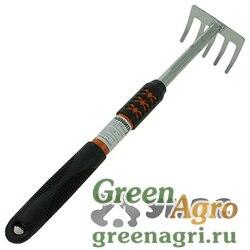 Грабли малые 5-и зубые JD-6057-1С с длинной металлопластиковой ручкой  (60)