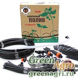 Капельный полив от емкости 60 растений с таймеромЖУКх2