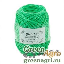 Шпагат полипропиленовый зеленый 100м 1200текс х50