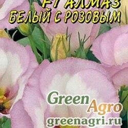 Эустома Алмаз Белая с розовым Цвет Сад Ц