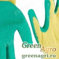 """Перчатки """"обливные"""" х/б вспененный ПВХ.желто-зеленые. Облив пальцы NA2082 (12/600)"""